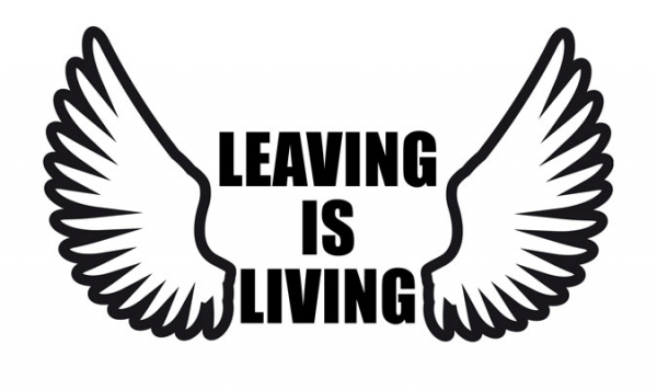 Leaving is Living Logo